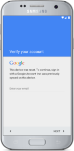 Google account Locked galaxy S7