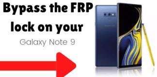Bypass FRP Galaxy Note 9